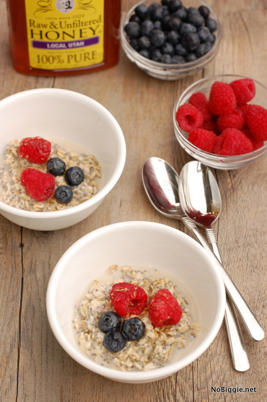 Overnight Oats recipe - love this simple and easy breakfast! | NoBiggie.net