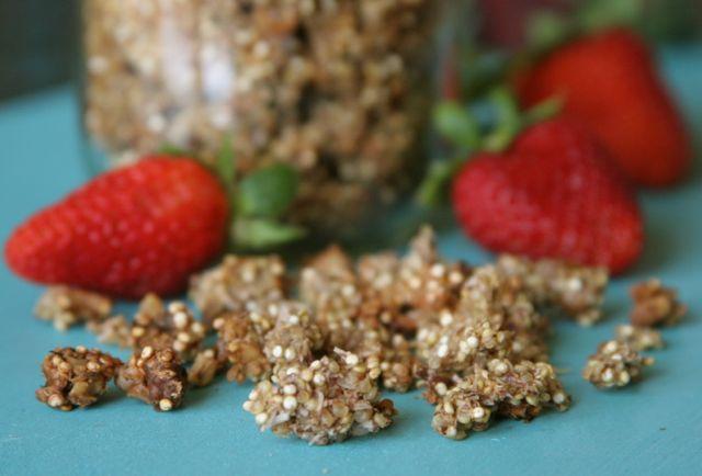Quinoa crunch | 25+ gluten free and dairy free snack ideas