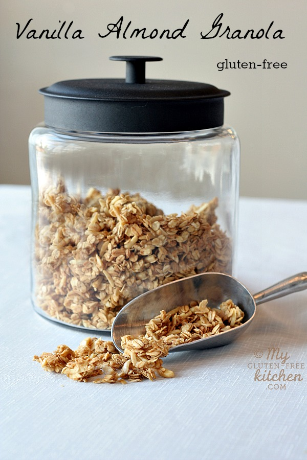 Vanilla almond granola | 25+ gluten free and dairy free snack ideas
