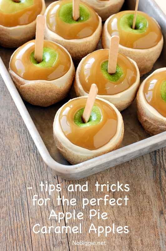 learn all the tips and trick for the perfect Apple Pie Caramel Apples   NoBiggie.net