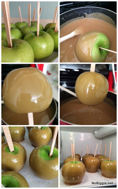 learn how to make apple pie caramel apples step by step | NoBiggie.net
