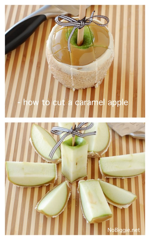 recipe for Apple Pie caramel apples plus how to cut caramel apples | NoBiggie.net