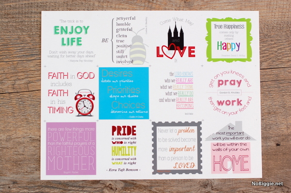 12 free printable LDS quotes for a year of Visiting Teaching| NoBiggie.net