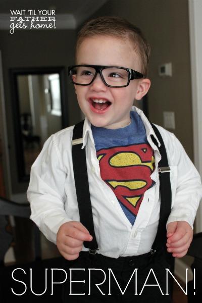 Clark Kent costume | 25+ creative DIY costumes for boys
