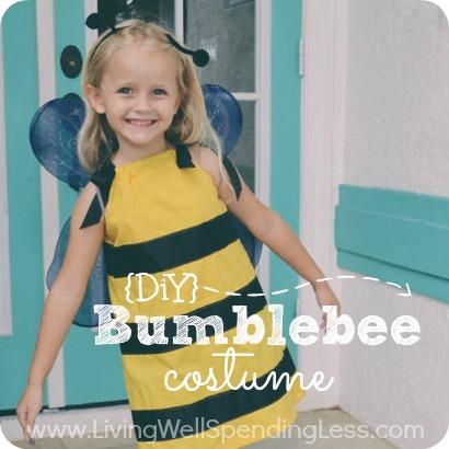 DIY Bumblebee   25+ Halloween costumes for girls
