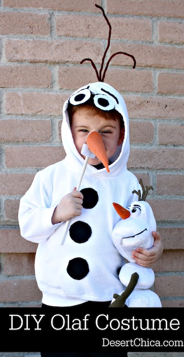 DIY Olaf Costume Disney Frozen | 25+ creative diy costumes for boys & 25+ Creative DIY Costumes for Boys
