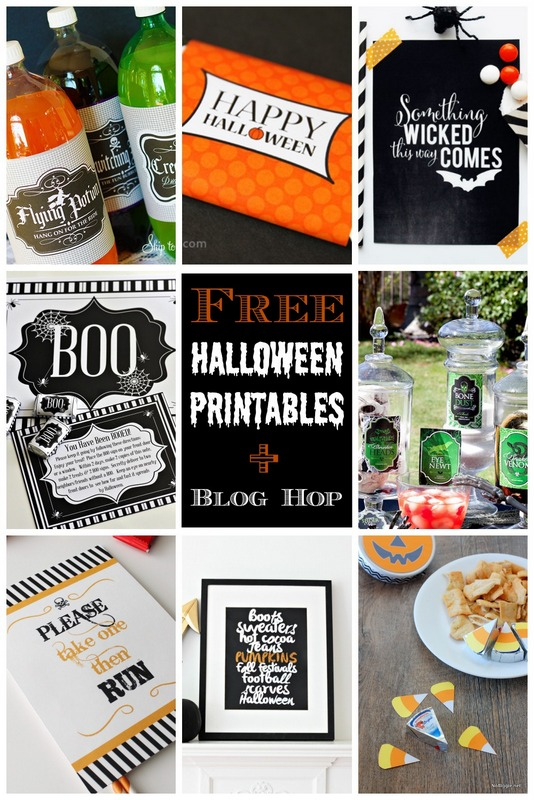 Free Halloween printables | MORE halloween party ideas