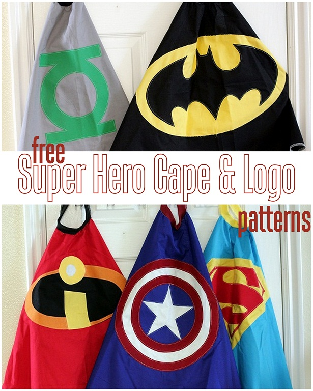 Free super hero cape patterns | 25+ creative DIY costumes for boys