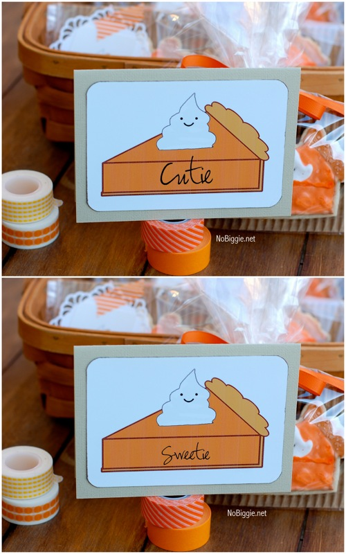 Pumpkin Pie free printable table setting or card | NoBiggie.net