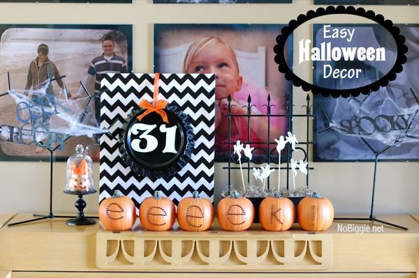 Simple Halloween Decor | MORE halloween party ideas