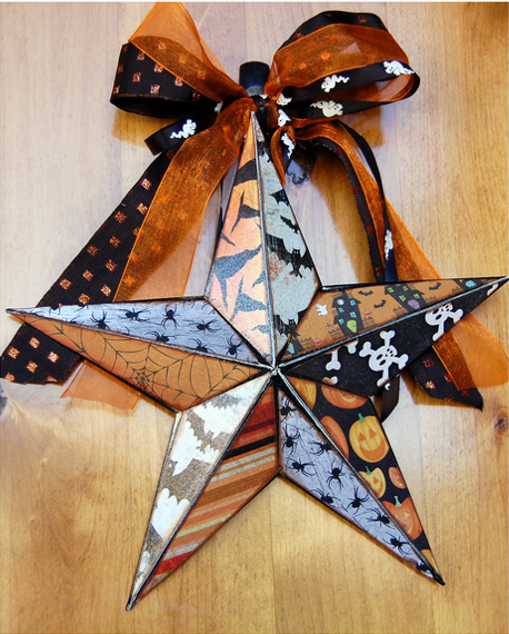 Spooky Halloween star | MORE halloween party ideas