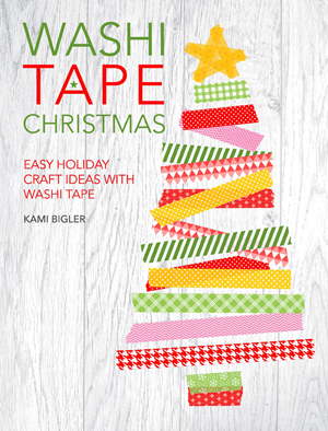 Washi Tape Christmas Book - a great book for that creative person. #washitape #washitapechristmas #washitapecrafts #washi