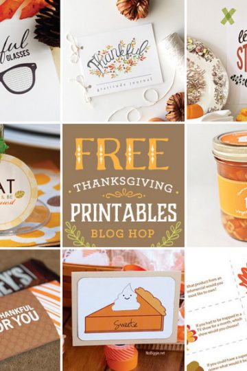 Thanksgiving Free printables – blog hop