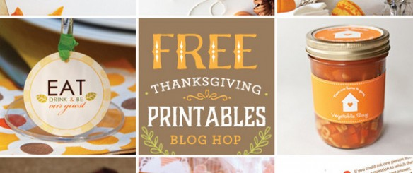 free Thanksgiving printables blog-hop