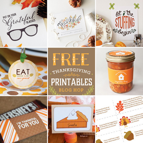 free Thanksgiving printables blog-hop