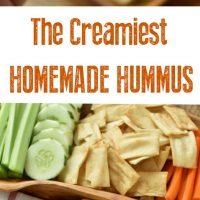 The creamiest homemade hummus
