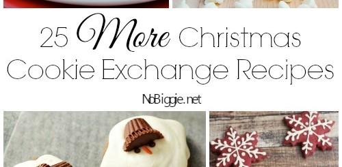 25 More Christmas Cookie Exchange Recipes via NoBiggie.net