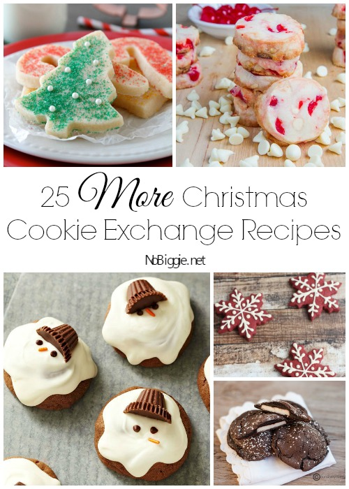 25+ More Christmas Cookie Exchange Recipes via NoBiggie.net