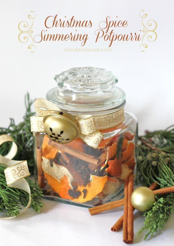 Christmas spice simmering potpourri | 25+ neighbor gift ideas
