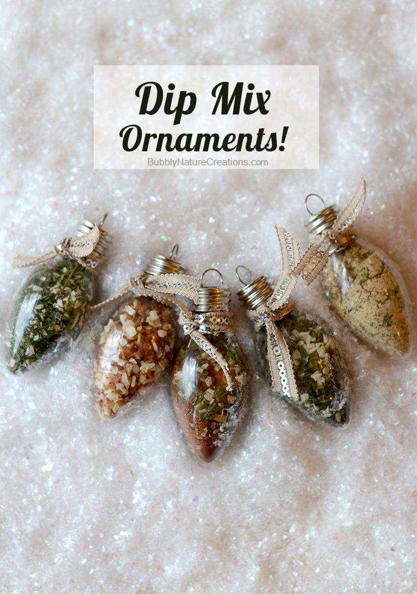 Dip mix ornaments | 25+ neighbor gift ideas