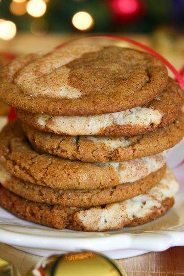 Gingerdoodles   25+ Christmas Cookie Exchange Recipes