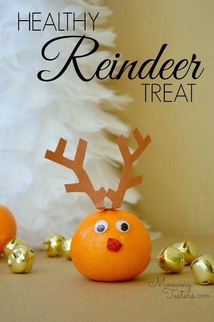 Healthy Reindeer treat +25 Healthy Holiday Snacks - NoBiggie.net
