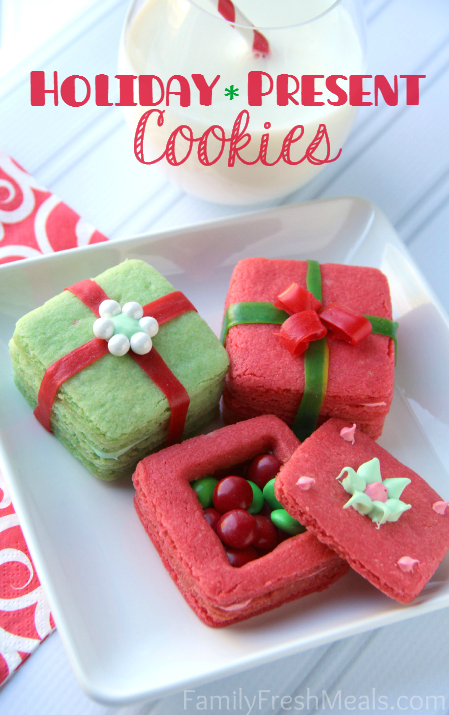 Holiday Present Cookies | 25+ Christmas Cookie Exchange Recipes