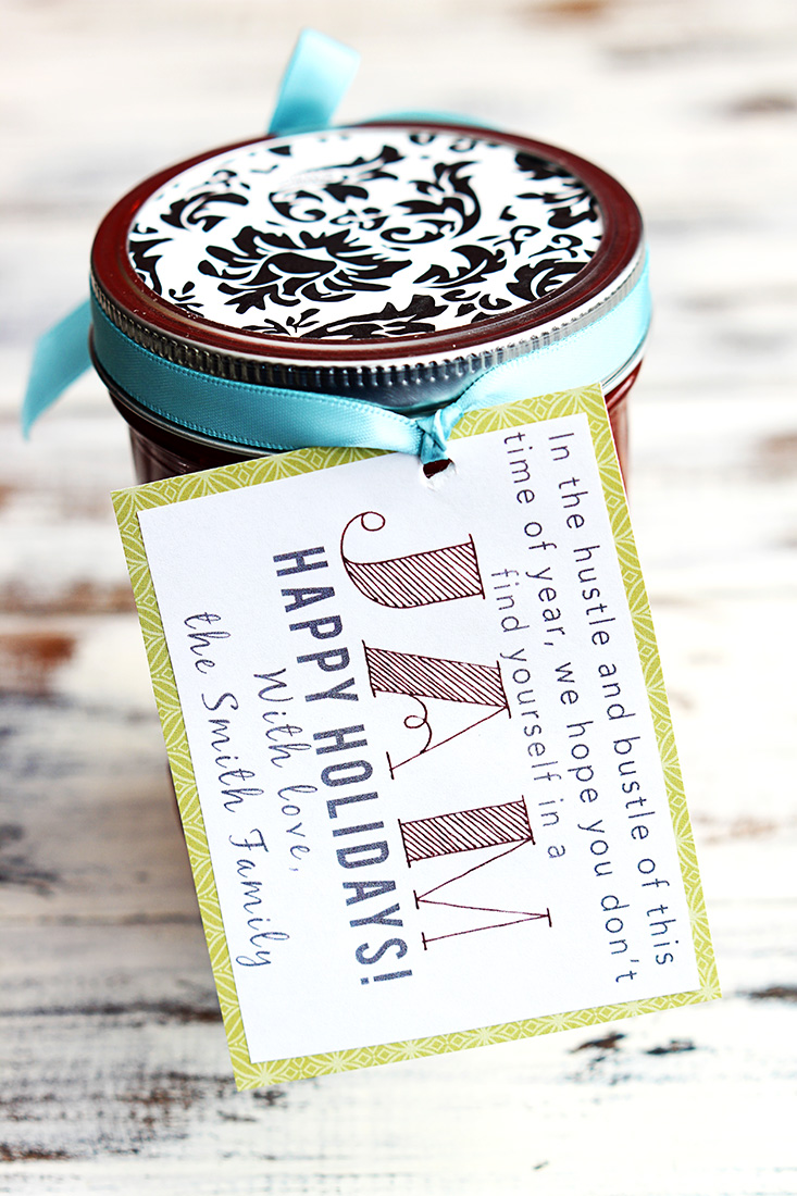 Jam recipe and tag   25+ neighbor gift ideas