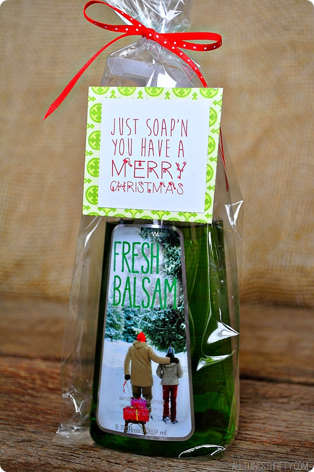 Just soap'n you have a Merry Christmas | 25+ neighbor gift ideas