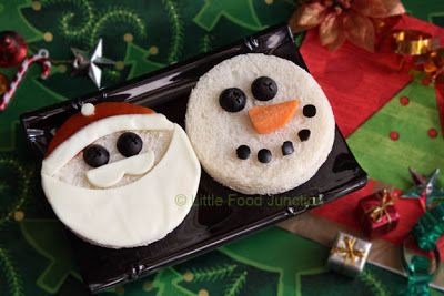 Santa & the snowman sandwich | +25 Healthy Holiday Snacks