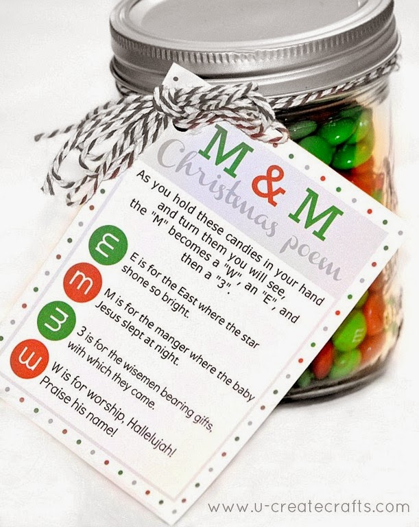 M&M Christmas Poem | 25+ neighbor gift ideas