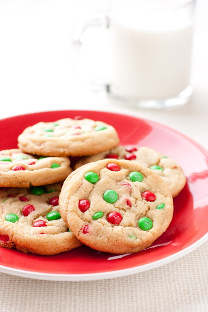 M&M Cookies Christmas Style | 25+ Christmas Cookie Exchange Recipes