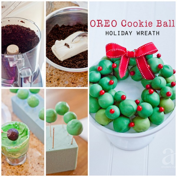 Oreo Cookie Ball Wreath | 25+ MORE Christmas cookie exchange recipes