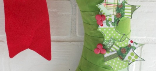 Patchwork Washi Tape Christmas Wreath | NoBiggie.net