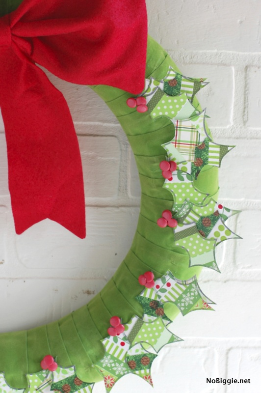 Patchwork Washi Tape Christmas Wreath | NoBiggie.net