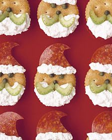 Santa Claus Crackers | +25 Healthy Holiday Snacks
