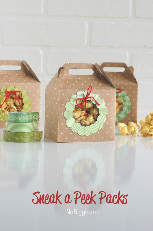 Sneak a Peek Packs | Christmas Packaging featured in Washi Tape Christmas the book | NoBiggie.net