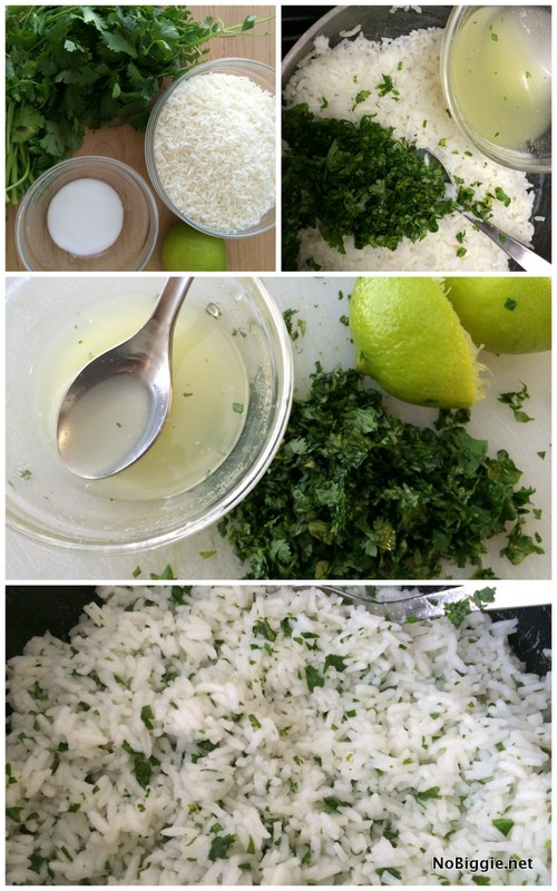 Sweet lime cilantro rice | NoBiggie.net