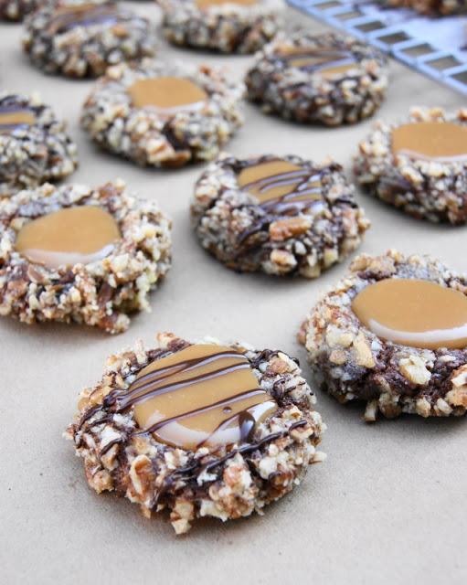Turtle Cookies   25+ Christmas Cookie Exchange Recipes