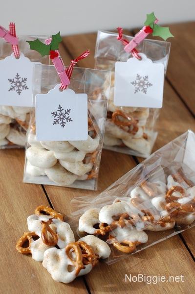 White chocolate Caramel Pretzels | 25+ neighbor gift ideas