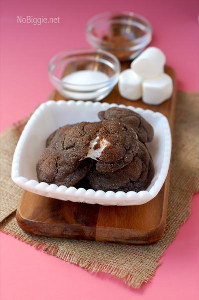 Chocolate Marshmallow Cookies | 25+ MORE Christmas cookie exchange recipes | NoBiggie.net
