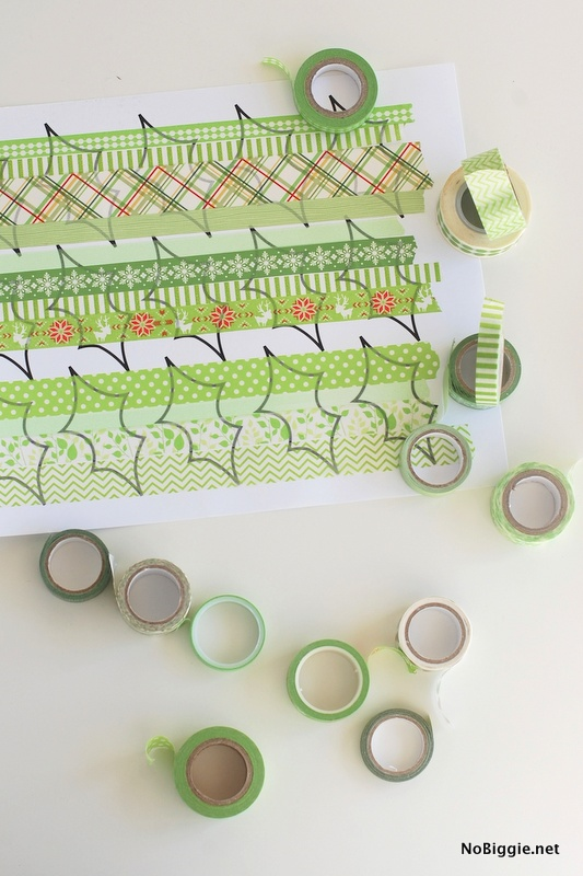 template for washi tape Christmas Wreath | NoBiggie.net