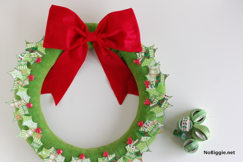 washi tape Christmas Wreath | NoBiggie.net