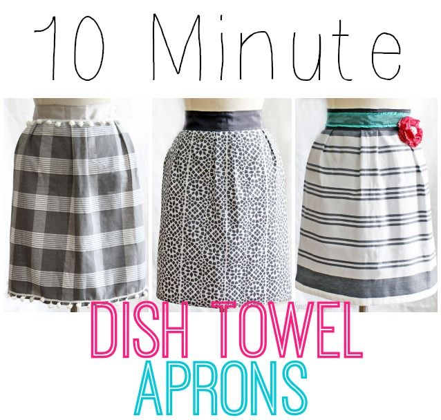 10 Minute Dish Towel Aprons | 25+ More Handmade Gift Ideas Under $5