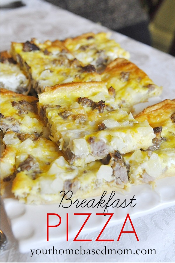 Breakfast Pizza 25+ Fun Christmas Breakfast Ideas for Kids | NoBiggie.net