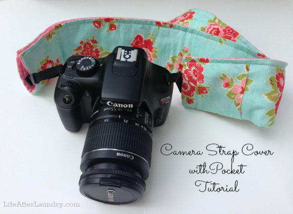 Camera strap cover with pocket | 25+ handmade gift ideas under $5