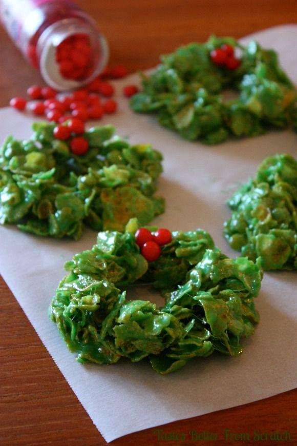 Christmas Cornflake Wreath 25+ Fun Christmas Breakfast Ideas for Kids | NoBiggie.net