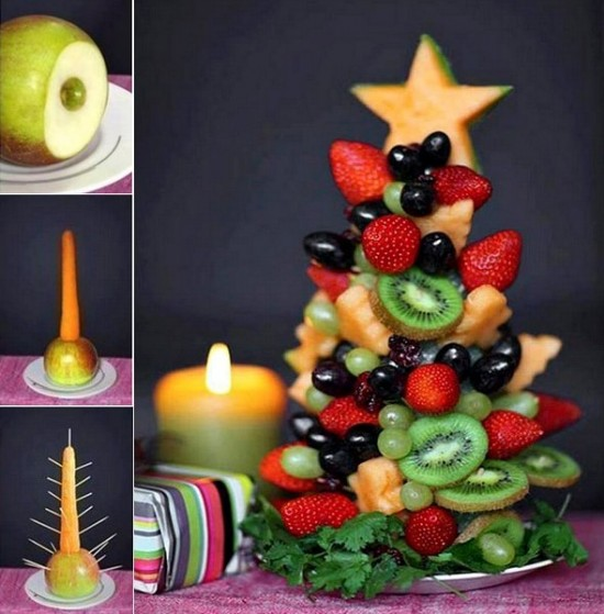 Christmas Fruit Tree | +25 Healthy Holiday Snacks