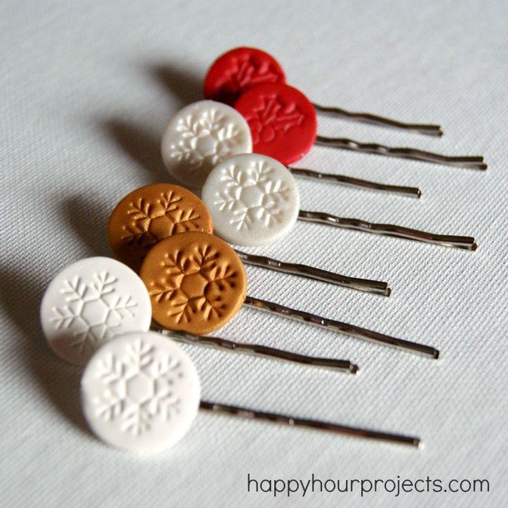 Christmas Hair Pins | 25+ More Handmade Gift Ideas Under $5