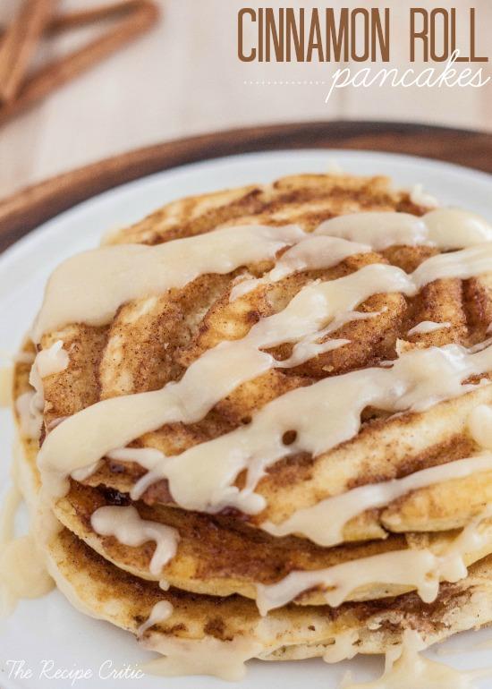 Cinnamon Roll Pancakes 25+ Fun Christmas Breakfast Ideas for Kids | NoBiggie.net